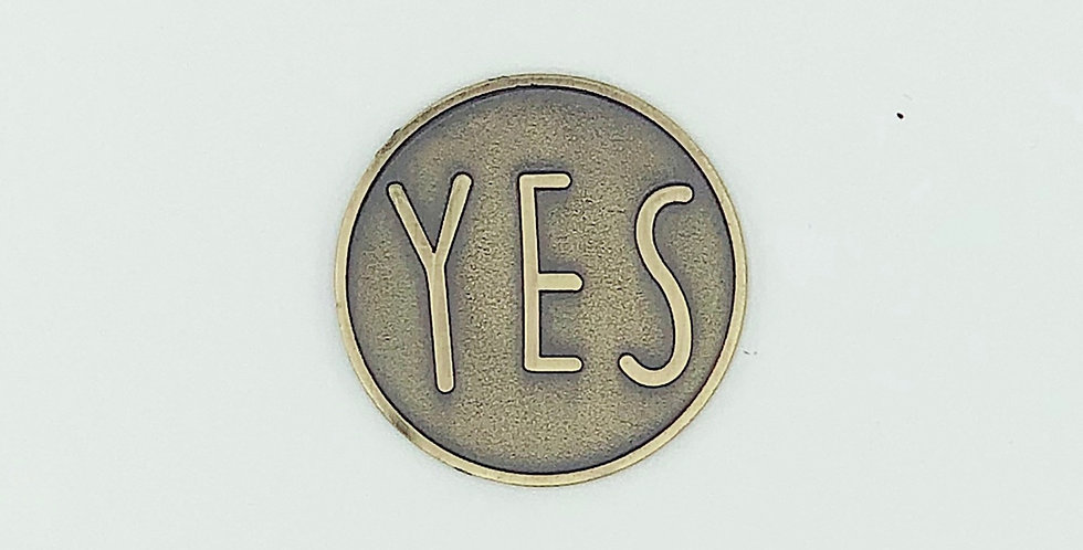 The Yes Magnet (Antique Brass)