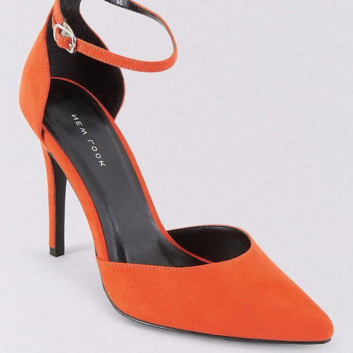 Orange Suedette Ankle Strap Heels by New Look