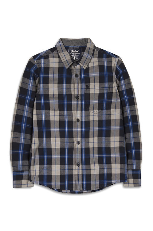Older Boy Blue Check Shirt by Rebel