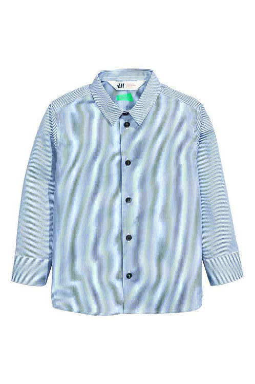 Cotton shirt from H&M - Blue/Striped