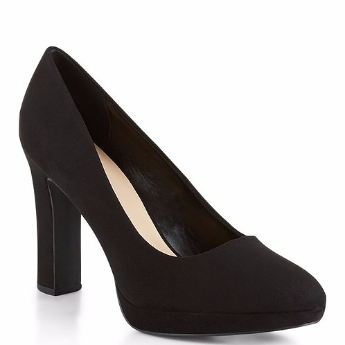 Wide Fit Black Suedette Court Shoes by New Look