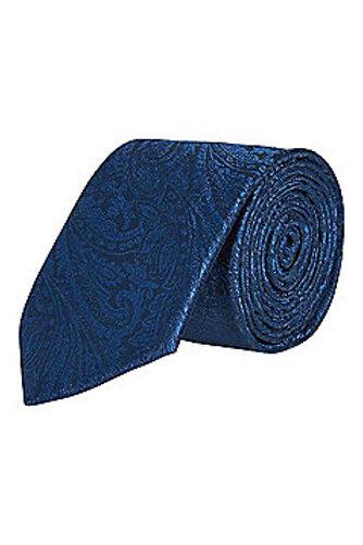 Blue Textured Regular Width Tie