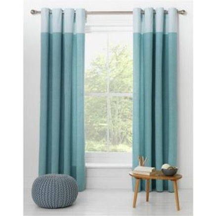 Dublin Eyelet Unlined Curtains - 117 x 183cm