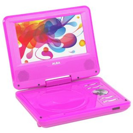 Alba 7 Inch Portable DVD Player - Pink