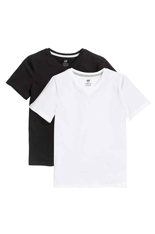 Black and white 2-pack T-shirts