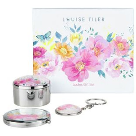 Louise Tiler Compact Mirror with KeyRing & Trinket