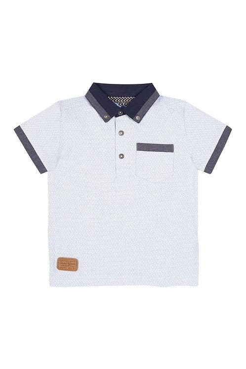 Blue Button Collar Polo Shirt from Rebel