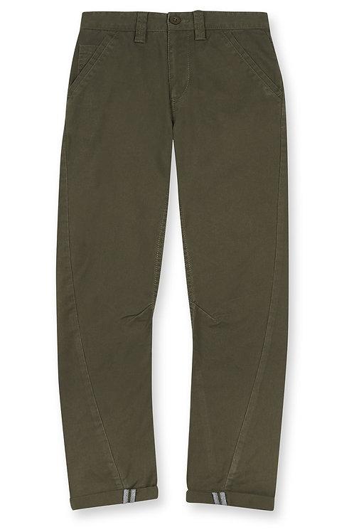 Rebel - Khaki Green Arc Leg Trousers