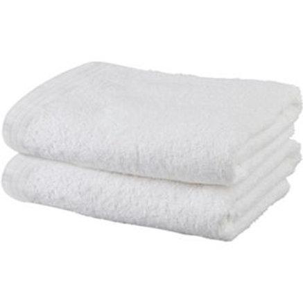 ColourMatch Pair of Bath Towels - Super White