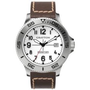 Grayton Comet.Jet Mens Leather Date Watch