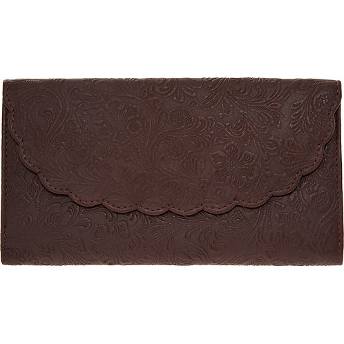 CLEMENTS RIBEIRO Dark Purple Leather Envelope Purs