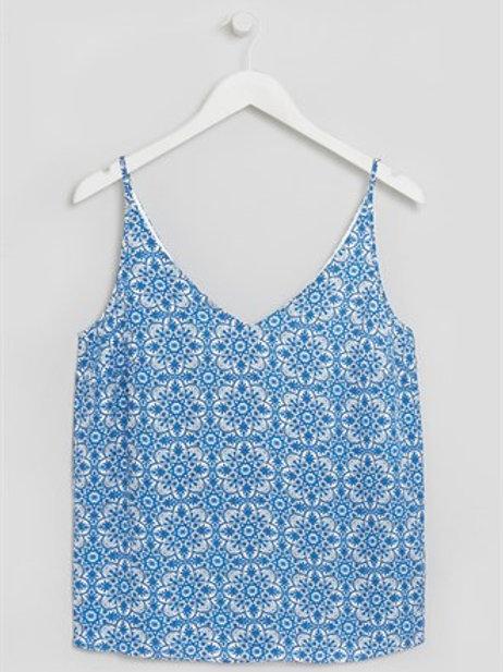 Blue Tile Printed Cami Top