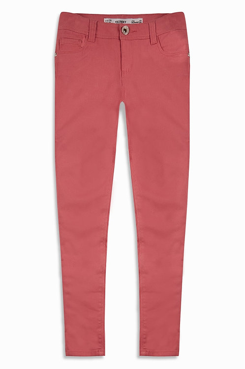 Older Girl Pink Twill Jeans