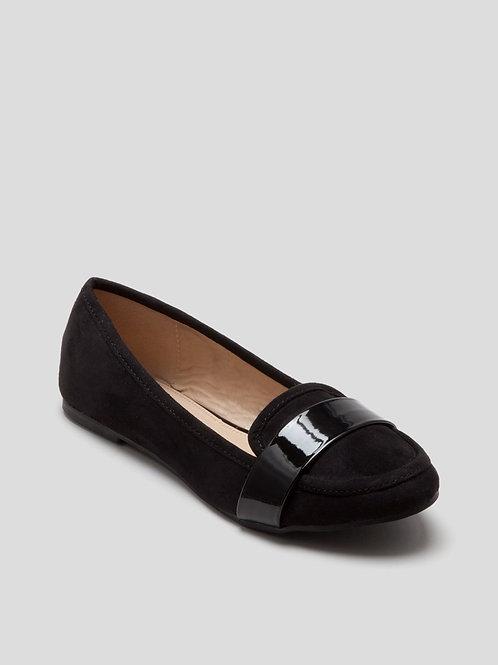 Wide Fit Loafer in Black