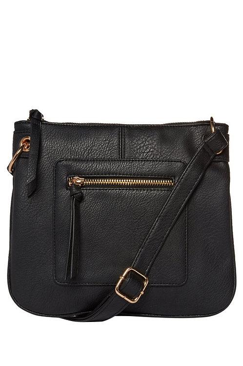 Black F&F Cross-Body Bag