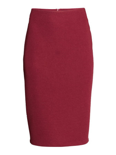 Red Pencil Skirt  by H & M