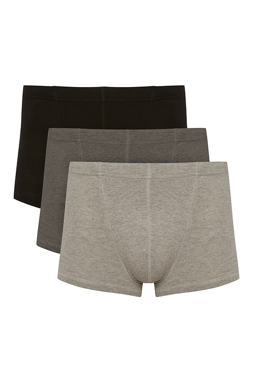 Grey 3Pack Hipster Trunks