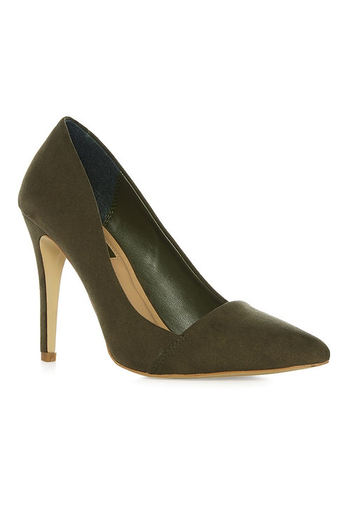 Atmosphere - Olive Heel Court Shoe