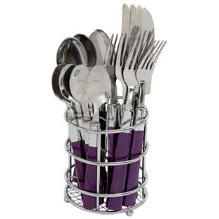 ColourMatch 16 Piece Cutlery Caddy - Purple Fizz