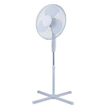 Simple Value White Oscillating Pedestal Fan - 16i