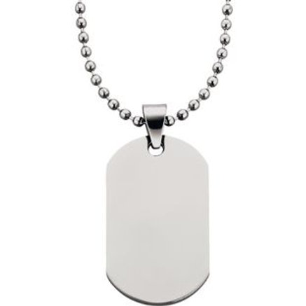 Stainless Steel Men's Dog Tag Pendant