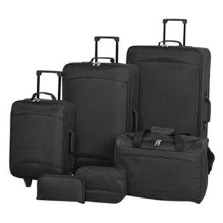Argos Value Range 6 Piece Luggage Set - Black