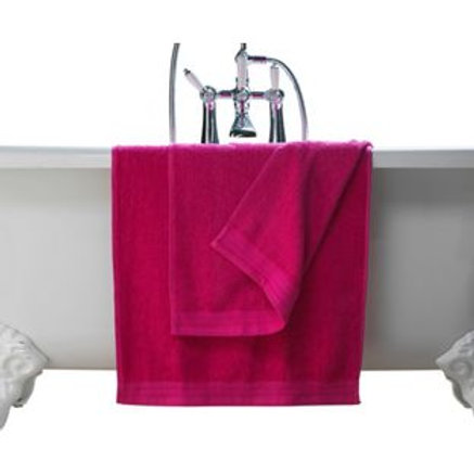 ColourMatch Pair of Bath Towels - Funky Fuchsia
