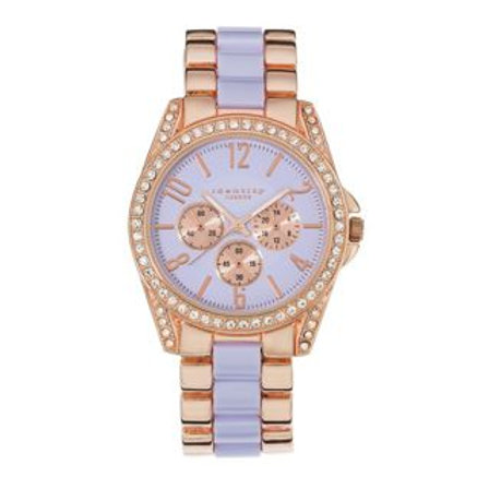 Identity London Ladies' Stone Set Lilac Dial Brace