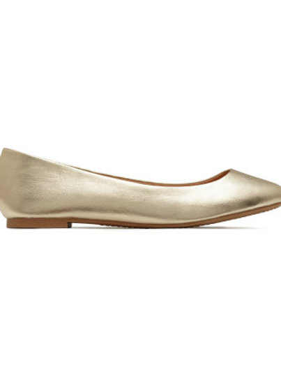 H&M gold ballet pumps