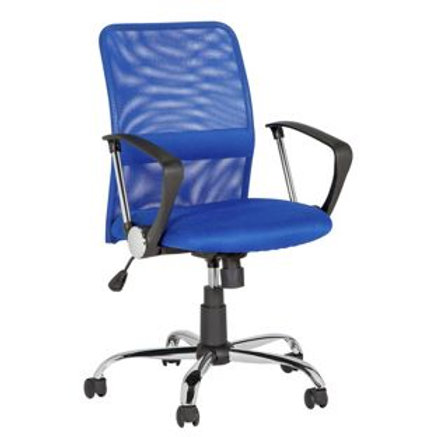 Mid-Back Gas Lift Mesh Chair - Blue