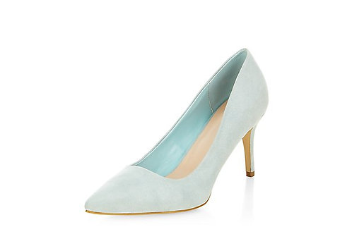 New Look - Pale Blue Pointed Mid Heel