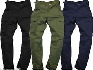 Mens Army Combat Work Trousers Cargo Pants