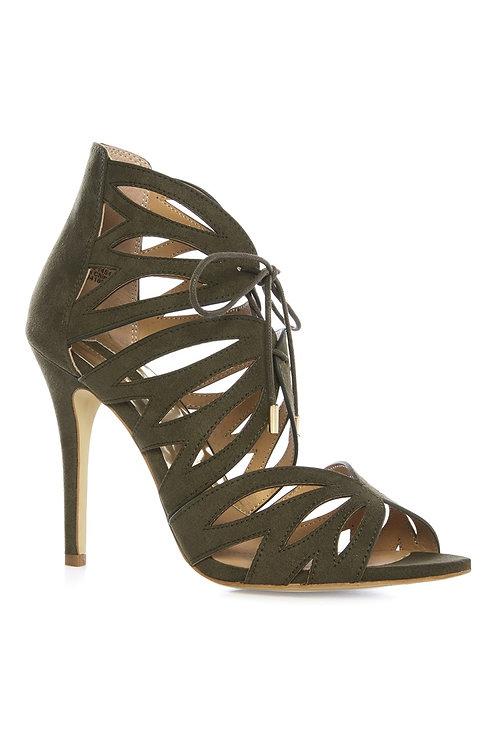 Atmosphere - Olive Ghillie Heel Sandal