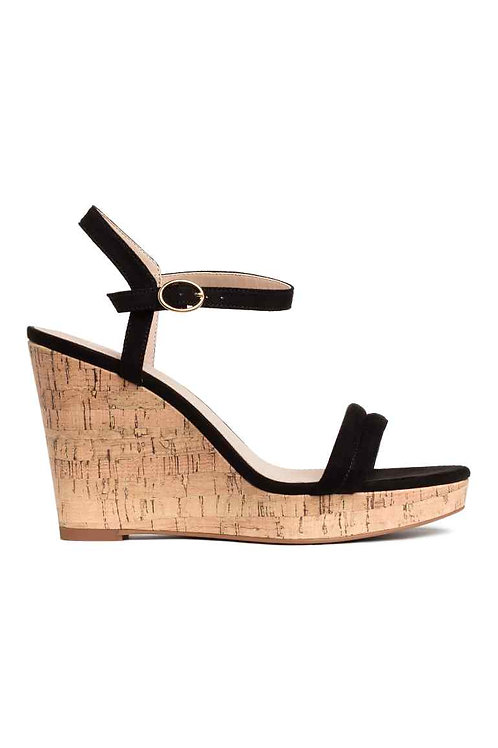 Black Wedge-heel sandals by H&M