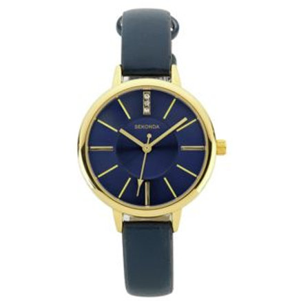 Sekonda Ladies Navy Dial Strap Watch