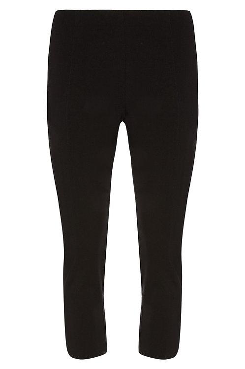 Black Bengaline Crop Trousers