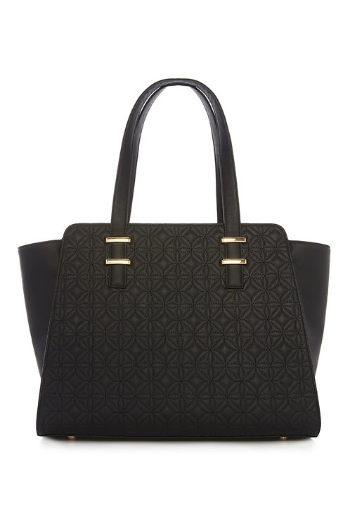 Black Quilted Tote Bag