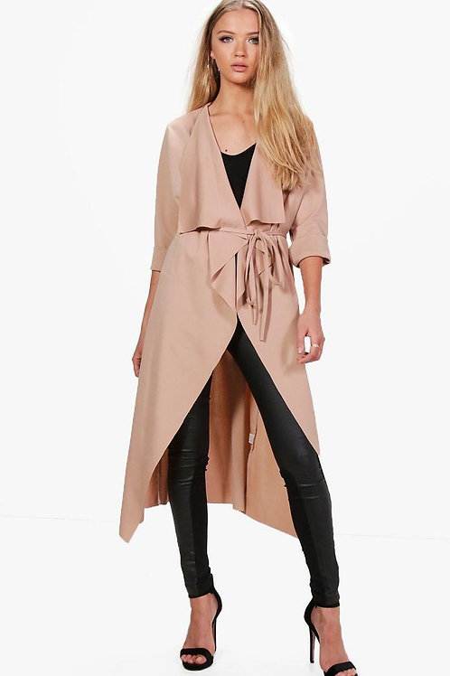 Stone Belted Midi Duster