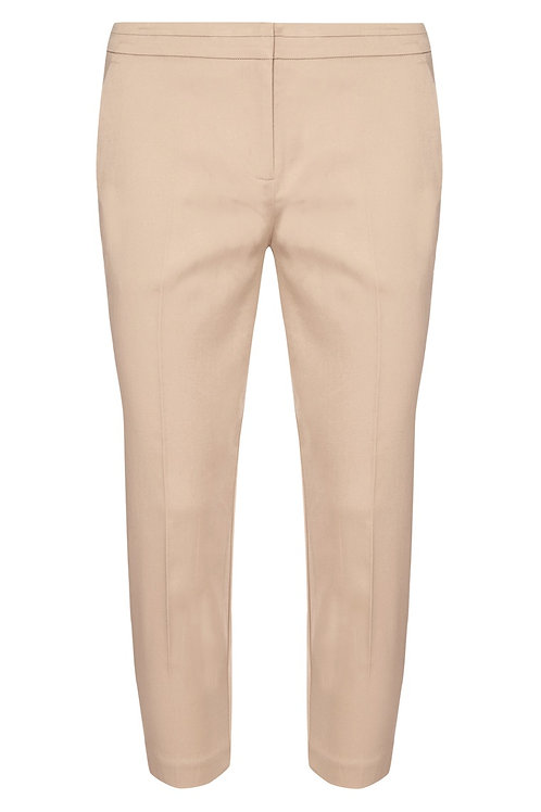 Cream Slim Fit Crop Trousers