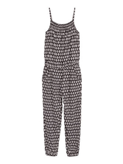 H&M - Black Patterned jumpsuit (8-14yrs)