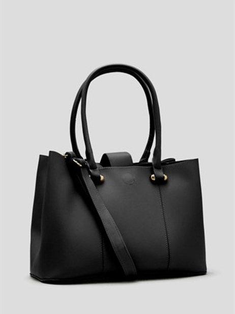 Compartment Tote Bag - Black