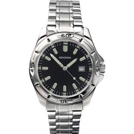 Sekonda Men's Black Dial Watch.