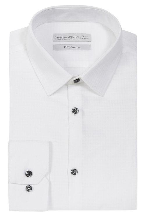 White Puppytooth Cotton Shirt