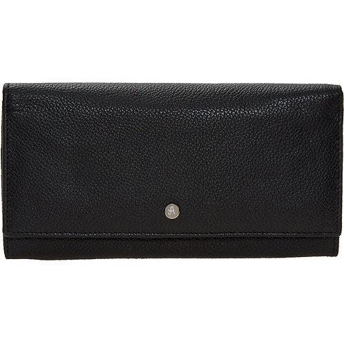 ASHWOOD Black Leather Purse
