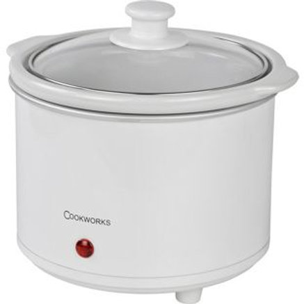Cookworks 1.5L Compact Slow Cooker - White