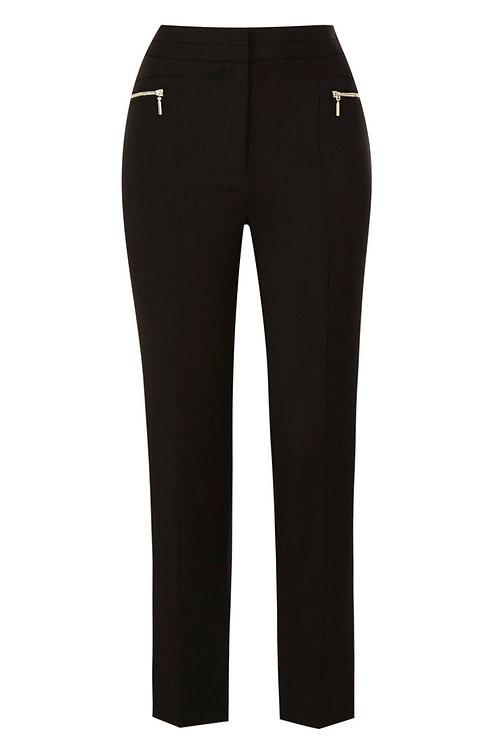 Black F&F Zip Detail Slim Leg Trousers