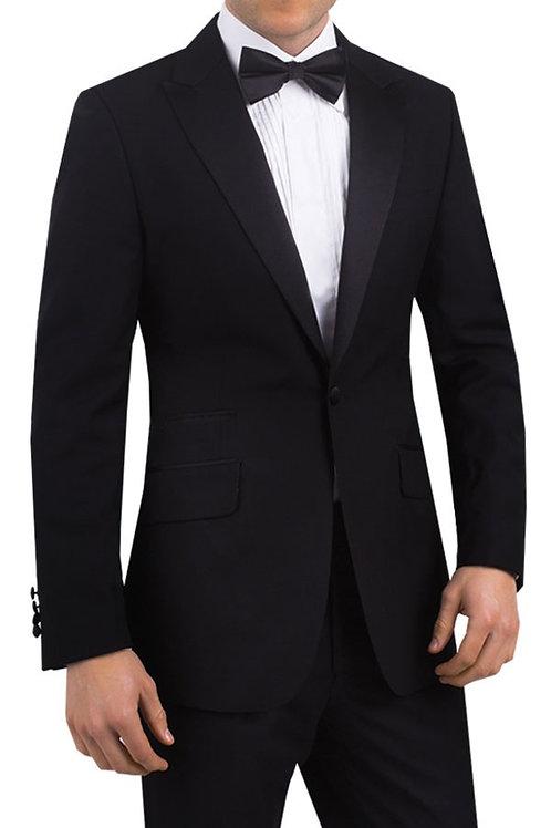 Black Tuxedo Jacket + Trousers + Shirt + Tie