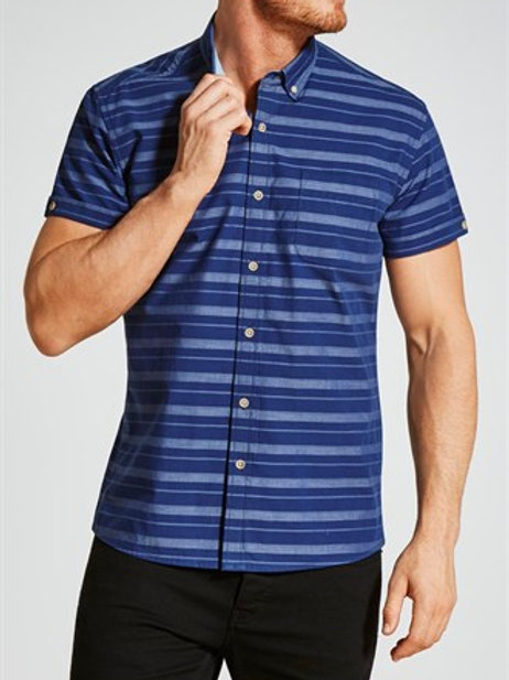Regular Fit Short Sleeve Stripe Shirt