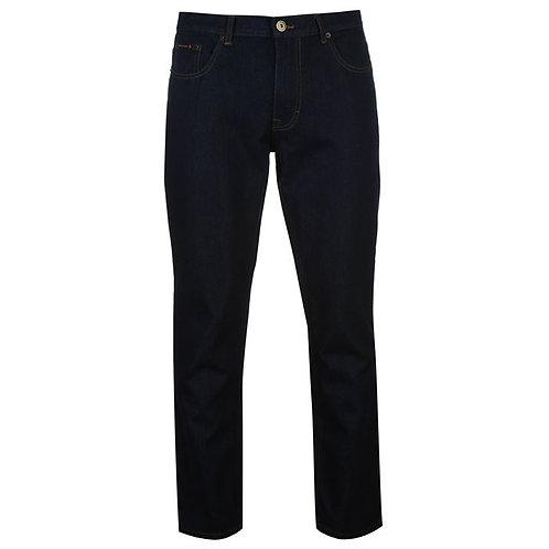 Black Pierre Cardin Plain Jeans Mens