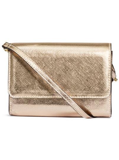 Small shoulder bag in Gold
